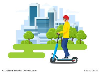 Helm für E-Scooter Fahrer Falthelm